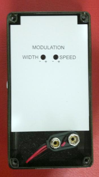 Regulagem interna Modulação MXR Carbon Copy